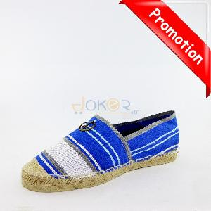 Espadrille peace and love en toile