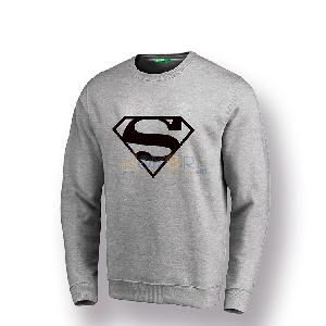 Sweater gris claire Superman by Chipie Bleue