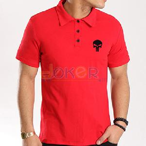 Polo rouge Punisher en cotton