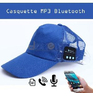 Smart Casquette Bluetooth Mp3 Bleu