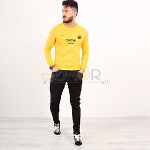 Sweater jaune nouvelle collection Barcelone