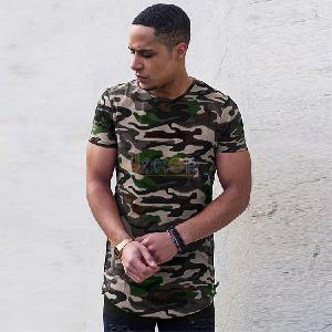 T-Shirt Oversize camouflage - Homme