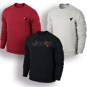 Lot de 3 sweaters gris rouge et noir Chicago Bulls