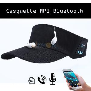 Smart Casquette Bluetooth Mp3 Noir