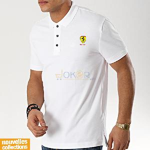 Polo blanc F1 - Homme