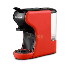 Machine A CAFE Expresso 2 en 1 TECHWOOD NESPRESSO & DOLCE GUSTO TCA-195N 1450W - Rouge