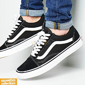 Baskets - Black white - VANS -  OLD SKOOL D3HY28