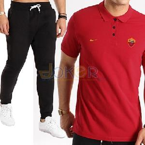 Pantalon jogging noir et polo AS Roma