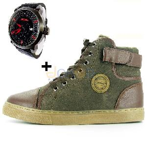 Pack Valencia (chaussures boots chic + montre sport )