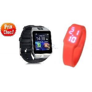 Pack : smart watch dzo9 +led watch kids