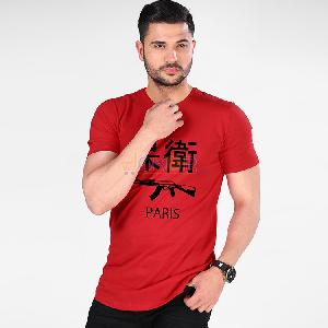 T-Shirt Defend Paris - Rouge - Homme