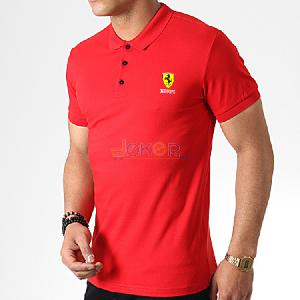 Polo rouge sport chic F1 - Homme