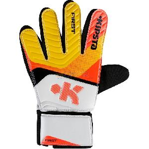 First Junior Goaler Gloves-Red Yellow