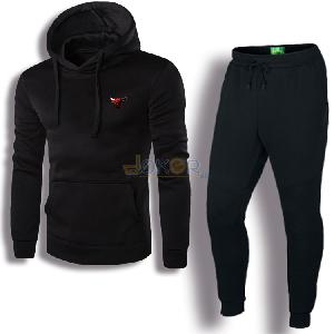 Sweater avec capuche noir Chicago et pantalon jogging